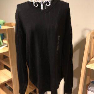 🆕 NWT Black V Neck Sweater M Apt 9
